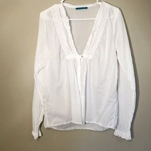 Velvet | Cotton Button Front Blouse Sz L